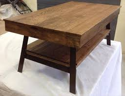 Recycled Pallet Coffee Table With Painted Steel Legs