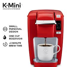 Keurig K Mini K15 Single Serve Cup Pod Coffee Maker Chili Red