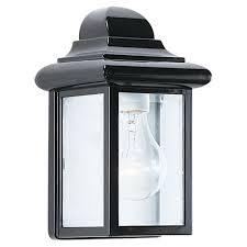 sea gull lighting kent 1 light black outdoor wall fixture 84031 12