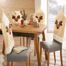 Deer Hat Chair Covers Christmas Decor Decorations Dinner