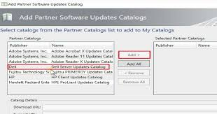 Select Dell And Click On Button Add This Will The Updates To SCUP Database Include Bios Drivers