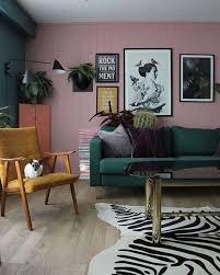 Pink And Green Living Room Colorful Home Decor
