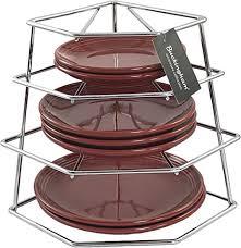 buckingham 4 etagen ecke küche schrank organizer aufbewahrung rack space saver plated premium qualität stahl chrom 23 x 23 x 26 cm