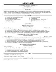Financial Manager Resume Best Summary And Highlights Finance Reporting Sample
