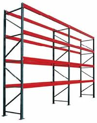 Photo Of Pallet Rack Red And Green With Whitebackground