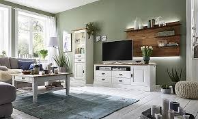 wohnzimmer set 4teilig kiefer massiv reinweiß lackiert wildeiche geölt casade mobila