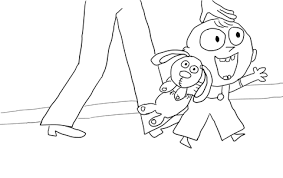 Click To See Printable Version Of Trixie From Knuffle Bunny Coloring Page