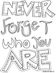 Full Image For Doodle Coloring Page Never Forget Who You Are Invasion Pages Printable