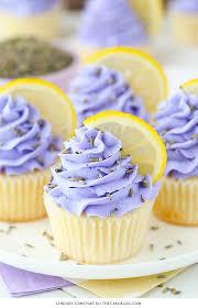 Lemon Lavender Cupcakes easy lemon cupcakes with a light lavender frosting