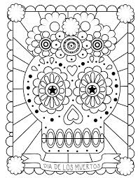 Coloring Sheets Pdf Day Dead Pages Skulls For Kindergarten First Of School Frozen Medium Size