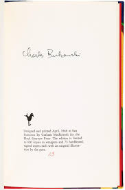 Sale 590 Fine Modern Literature With The Allen Berlinski Collection Of Charles Bukowski 07 14 2016 1100 AM PDT CLOSED