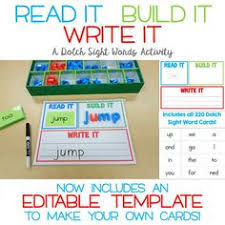 Read It Build Write Sight Words