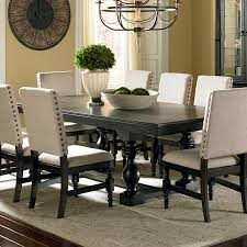 Captains Chairs Dining Room by Leona Cottage Rectangular Antique Black Dining Table With 18