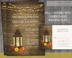 Fall Wedding Invitations Rustic Lantern Country Wedding Invitation