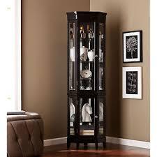 ccc79960 black lighted corner curio cabinet ebay