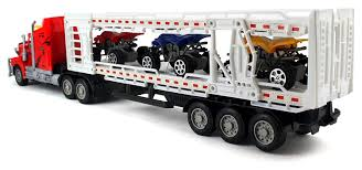 Amazon.com: Racing 500 Trailer Remote Control RC Transporter Semi ... Vintage Ertl Intertional Sears Toy Truck Youtube 116 Bruder Fliegl Triaxle Low Loader Trailer And Dolly Fx Capra Trailers New Used Sales Adams Center Ny 132 Scale Walmart Trucks Gets Pulled Over Along With Usps An The Toy Farm Semi And For Sale Amazoncom Peterbilt Truck Flatbed 2 Tractors Trailers Shipping Containers Buses 187 Ho Scale Junk Mail Rocket Control Vintage Set Hess Classic Toys Hagerty Articles Model Trucks Diecast Tufftrucks Australia