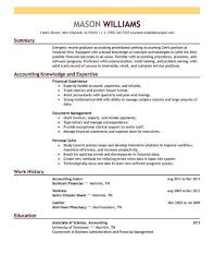 Accounting Clerk Finance Resume Example Contemporary X Samples