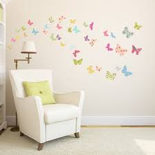 the colorful butterflies wall stickers plant wall stickers