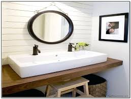 sinks double faucet trough sink kohler wall mounted bathroom