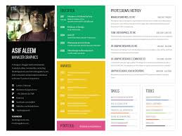 Landscape One Page Resume Template By Asif Aleem