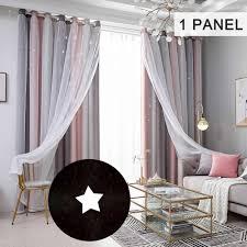 fenster vorhang blackout vorhänge für kinder mädchen schlafzimmer wohnzimmer bunte doppel schicht fenster vorhänge 1 panel
