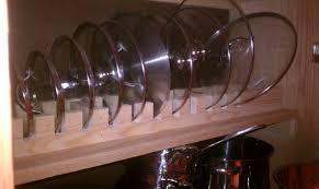 Pot lid rack by Roswell LumberJocks woodworking munity
