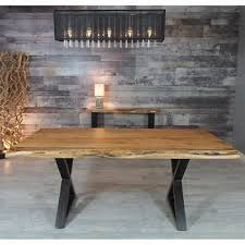 Zen Acacia Live Edge 1829 Cm 72 In Dining Table With Black X Legs