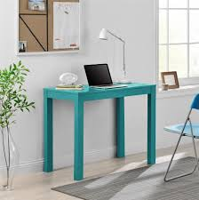 dorel home furnishings teal parsons desk with drawer home