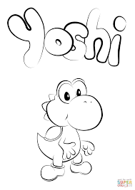 Click The Baby Yoshi Coloring Pages To View Printable