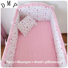 Pink Crib Bedding by Promotion 6pcs Pink Crib Bedding Set 100 Breathable Cotton