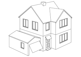 Elegant House Coloring Pages 23 On Print With