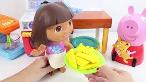 dora the explorer dough set toys kitchen set play doh cooking play