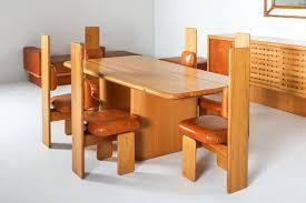 esszimmerstühle aus buche leder mario marenco italien 1970er 6er set