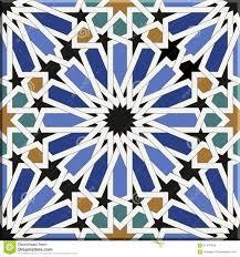 arabic tiles seamless pattern seville spain stock vector