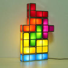 Tetris Stackable Led Desk Light by Tetris Diy Constructible Retro Game Style Stackable Led Desk Lamp