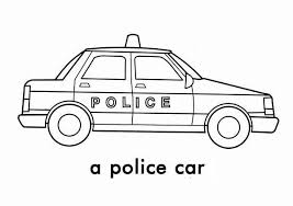 A Police Car Picture Coloring Page A Police Car Picture Coloring