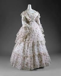 Dress Date Ca 1872 Culture French Medium A Cotton Porcelain