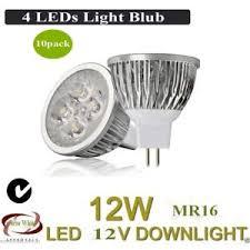 bright 10pcs mr16 4w 12v warm white dimmable led spotlight bulbs