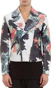 3 1 phillip lim floralprint leather moto jacket for men lyst