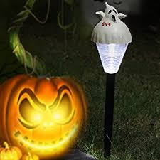 Halloween Pathway Lights Stakes by Amazon Com Halloween Solar Light Stakes 6 Pack Yard Art