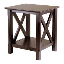 Vintage End Table With Lamp Attached by Amazon Com Winsome Wood Xola End Table Kitchen U0026 Dining