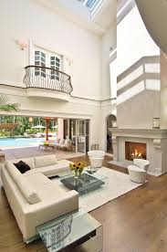 Living Room With Fireplace Design by 54 Living Rooms With Soaring 2 Story U0026 Cathedral Ceilings