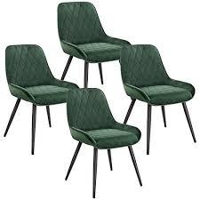 elightry 4 stücke esszimmerstühle retro küchenstuhl wohnzimmerstuhl sitzfläche aus samt retrostuhl mit metallbeine besucherstuhl stuhl für esszimmer