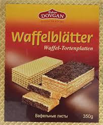 dovgan waffelblätter 350 g