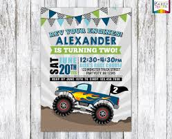 Monster Truck Birthday Party Invite Blue And Green Printable | Etsy Monster Contruck Invitation Invite Pics Of Truck Fresh Birthday Invitations Personalized Invitation Boy By Uprint Etsy Party Ideas At In A Box 50 Off Sale 2nd Svg And Printable Clipart To Make Nice 94 In Design With Frozen Elsa Anna Trucks Food Jam Supplies Monster Truck Birthday Truck Birthday Party Invites Tonys 6th Bday