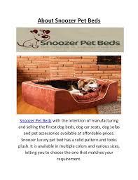 buy snoozer luxury pet beds call us 1 888 942 6626