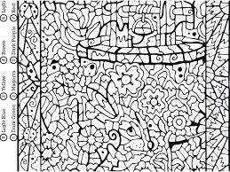 Hard Halloween Coloring Pages Free Printable Color By Numbers Images Really