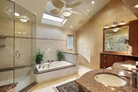 Espresso Bathroom Wall Cabinet With Towel Bar by Modern Master Bathroom Design White Ceramic Bowl Sink With Mirror