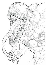 Spiderman 3 Venom Coloring Pages Free And Carnage Printable