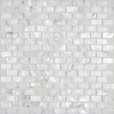 mother of pearl mosaic tiles subway shell pearl tile backsplash